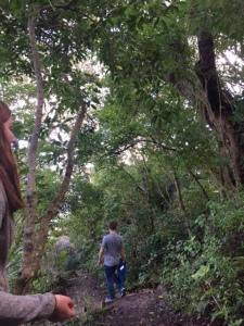 Walking down from Mt. Paku