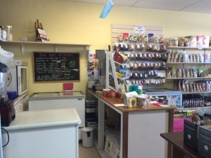 Where the ice cream and smoothies are prepared