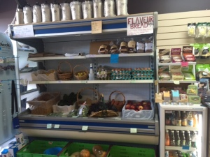 Produce inside the shop