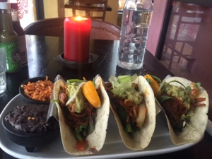 Tacos! With a candle!